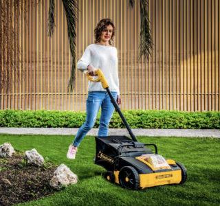 302WUK & Cordless   Lawn Broom Sweeper