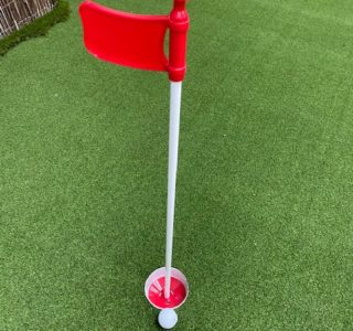 Red Golf Flag & Cup Set