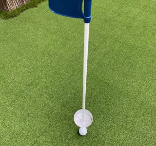 Blue Golf Flag & Cup Set