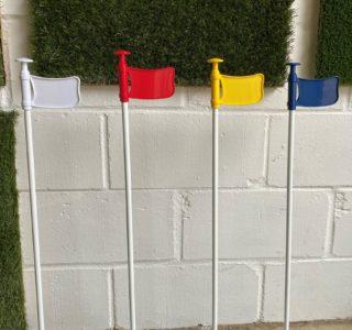 Yellow Golf Flag & Cup Set