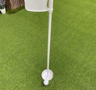 White Golf Flag & Cup Set